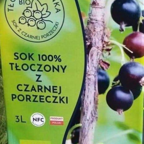 Sok Ekologiczny 100% z czarnej porzeczki.