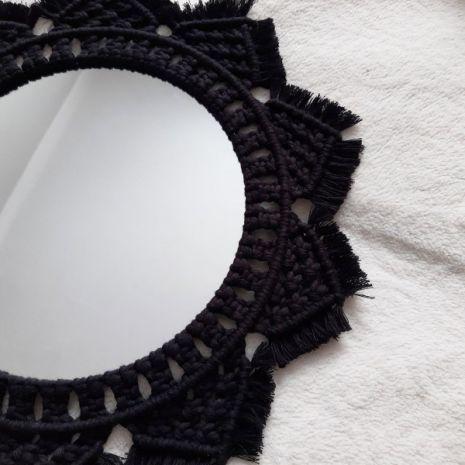 Makrama - Lustro okrągłe