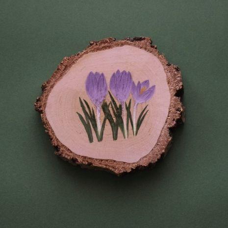 Podstawka/dekoracja - szafran wiosenny