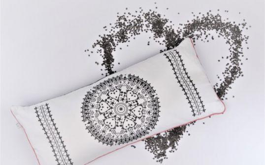 Poduszka z łuską gryki/autorski wzór