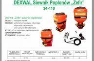 Siewnik poplonów ZEFIR dexwal szerokość robocza 2-15 m