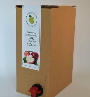 Sok jabłkowy z dzikich sadów bag in box 5L - worek