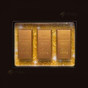 Sztabki złota z mlecznej czekolady