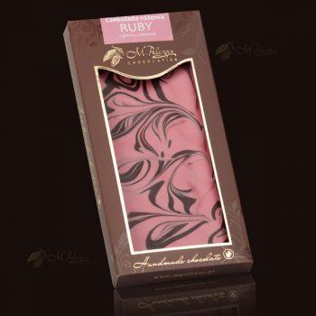 Czekolada różowa RUBY z gorzką czekoladą