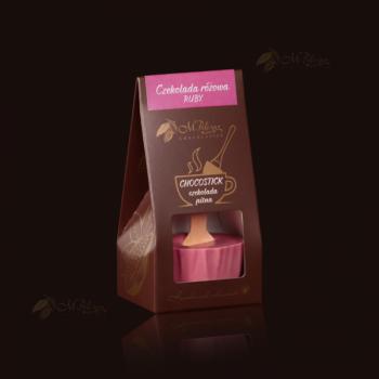 Czekolada różowa - RUBY do rozpuszczania w filiżance z gorącym mlekiem