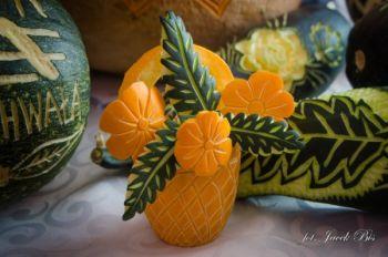 Rzeźbione owoce i warzywa