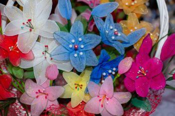 Kwiaty ręcznie robione