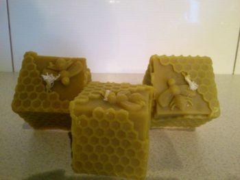 Świeczka kostka z wosku pszczelego