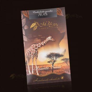 Czekolada z Żyrafą - gorzka 70,4%