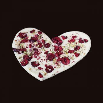 Serce z wiśniami i pistacjami