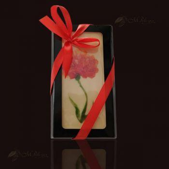 Czekolada z ręcznie malowanym kwiatem