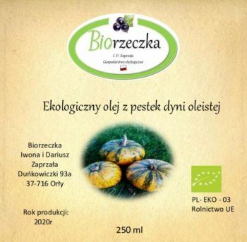 Ekologiczny olej z pestek dyni oleistej