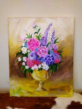 Bukiet kwiatów na płótnie