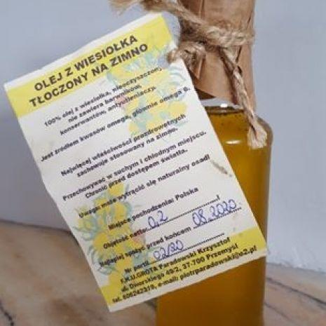 Olej z wiesiołka tłoczony na zimno 200ml