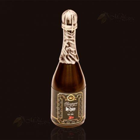 Butelka szampana z czekolady