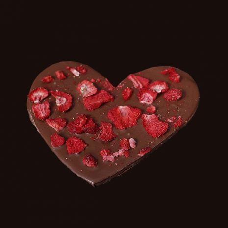 Serce z truskawkami