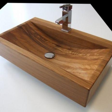 Umywalki drewniane