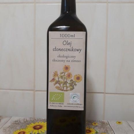 Olej słonecznikowy -ekologiczny certyfikat