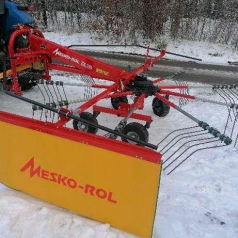 Zgrabiarka karuzelowa ZK 350 tandem skrętne koła MESKO-ROL