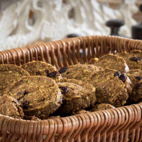 Ciastka owsiano-żytnie z żurawiną i orzechami