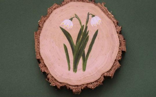 Podstawka/dekoracja - śnieżyca wiosenna