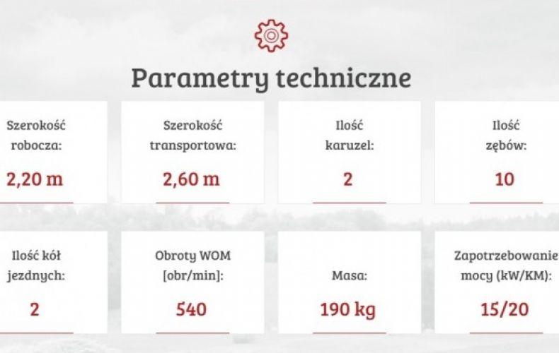 Przetrząsacz karuzelowy PK 220 mesko-rol