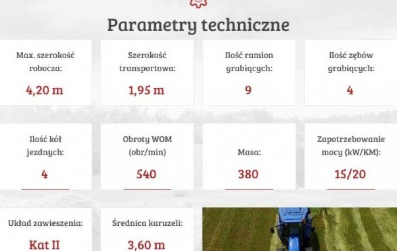 Zgrabiarka karuzelowa ZK 420 tandem MESKO-ROL
