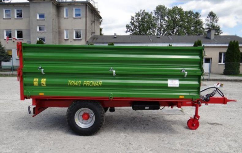 Przyczepa jednoosiowa rolnicza komunalna T 654/2 4,9t