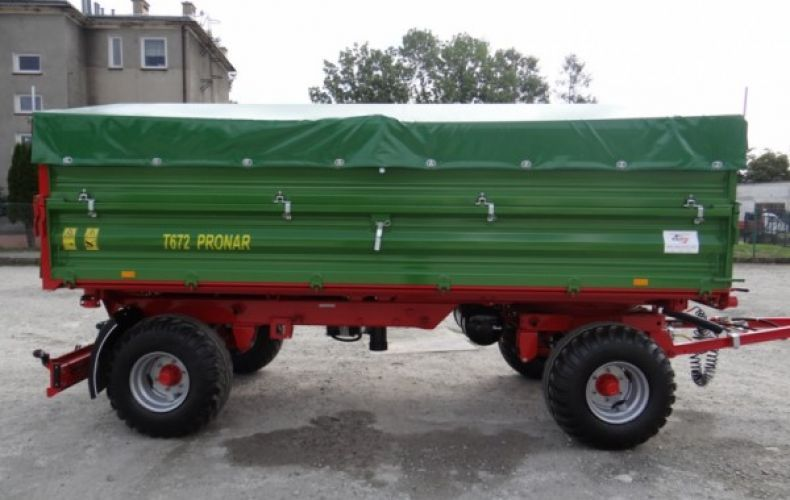 Przyczepa rolnicza komunalna dwuosiowa 10t PRONAR T 672/2